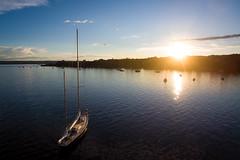 Ammersee (Chris Buhr) Tags: sunset lake 3 bayern bavaria see sonnenuntergang air boote phantom ammersee schiffe idylle luftaufnahme herrsching dji