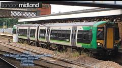 LONDON MIDLAND 172213 DEPARTING WORCESTER SHRUB HILL 23062016 (MATT WILLIS VIDEO PRODUCTIONS) Tags: london hill shrub midland worcester departing 172213 23062016