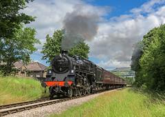 GN Standard (4486Merlin) Tags: england europe unitedkingdom transport steam railways westyorkshire gbr keighley keighleyworthvalleyrailway heritagerailways 75078 exbr brstd4mt460 vintagetrainevent