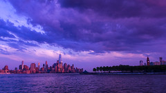 NYC (Srikanta. H. U) Tags: new york nyc station train river evening manhattan wtc hoboken frount