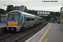 22003 departs Portarlington, 27/6/16 (hurricanemk1c) Tags: irish train rail railway trains railways irishrail rok rotem portarlington 2016 22003 icr iarnrd 22000 ireann iarnrdireann 3pce