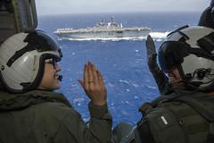 160622-N-LD343-016 (SurfaceWarriors) Tags: lha6 america ussamerica sailors usnavy people rimpac rimofthepacific hawaii pearlharbor reenlistment mh60 helicopter seahawk