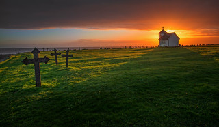 Church in sunset