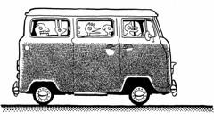 Roadtrip (Don Moyer) Tags: moleskine vw ink notebook drawing vehicle van moyer brushpen donmoyer