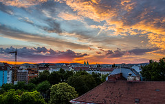 Vienna Sunset (G480R) Tags: vienna park city roof sunset sky clouds high colorful rooftops dynamic range hdr