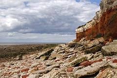 Hunstanton Beach (steven.kemp) Tags: sea cliff cloud sun beach rock coast sand norfolk hunstanton