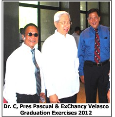 2012 UPLB  Graduation  Dr. C Pres. Pascual and Chancy Velasco2 (Verr 54) Tags: dr graduation severino 2012 capitan uplb