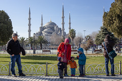Istanbul | Blue Mosque (wazari) Tags: city travel art history classic architecture photoshop vintage turkey photography ancient asia europe european place artistic ataturk minaret islam faith religion culture istanbul mosque retro photograph adobe journey dome destination historical ottoman taksim middleages secular turkish byzantine bosphorus masjid asean cultural turk sultanahmet traveler galata constantinople islamicart travelphotography galatatower stamboul travelphotographer wazari senibina wazariwazir