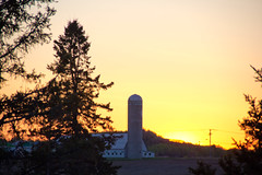 sunset farm (zGomez) Tags: sunset sun canada nature beautiful canon landscape eos quebec farm may sunny explore saguenay 2013