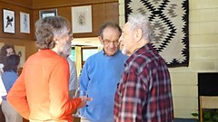 Richard, Hans & friends at Mary Ellen Memorial Open House, Madison (ali eminov) Tags: friends house wisconsin ellen open hans madison lou memorials mathematicians housemary