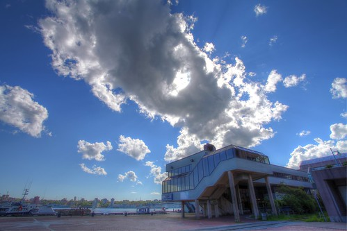Afternoon Clouds over Dartmouth Ferry Terminal, HDR