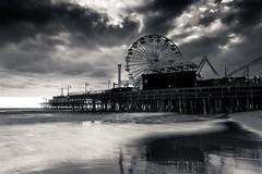 Santa Monica Pier - Santa Monica Ca - while supa moon waitin