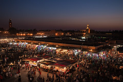 Place Jemaa el-Fna - Marrakech - Morocco - Maroc - Maroko -  - Fas - Marruecos - Marokko -  - Night - Nuit - Photo Image Photography (Grand Parc - Bordeaux, France) Tags: sunset de photography soleil photo photographie place picture coucher morocco maroc animation marrakech marruecos marokko coucherdesoleil jemaaelfna fotografa marrakesch fotogrfica jemaa elfna vendeurs galleryoffantasticshots  fotographienabbildung potd:country=fr