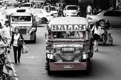 Sally (yonem) Tags: travel bw traffic philippines streetlife manila jeepney 2013 canonef24105mmf4lisusm canon6d