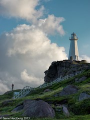 At the Lighthouse (Gene Herzberg) Tags: canada newfoundland dcapespear