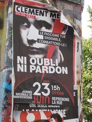 Le fascisme tue (Jeanne Menjoulet) Tags: clémentmeric lefascismetue paris fascisme antifa oubli pardon manif affiche manifestation