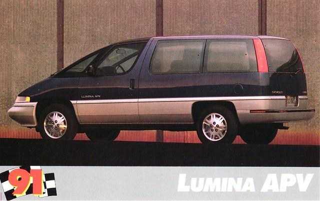 chevrolet postcard 1991 minivan lumina apv dustbuster
