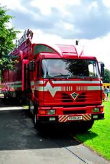James Robinson's Foden (maccate) Tags: park trip red west abbey rock truck fairground miami yorkshire transport leeds hard lorry kirkstall funfair foden jamesrobinson 4380 r970cwy mm61