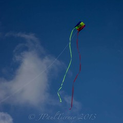 Free to air 1 (JPaulTierney) Tags: blue ireland sky kite clouds flying air streamers kiteflying kildare