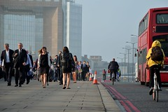 London Bridge Commuters (A-Lister Photography) Tags: street city uk morning england sun sunlight bus london bike bicycle horizontal misty businessman sunrise buildings londonbridge walking landscape dawn cycling early workers suits cyclist employment pavement walk candid crowd transport group earlymorning citylife streetphotography sunny safety business sidewalk walker pedestrians vehicle commuting rushhour innercity sunlit publictransport financial walkers economy offices commuters professionals reallife cityoflondon finance roadsafety londonbus businessmen businesspeople londontransport redbus buslane officeworkers worklife realpeople cityworkers officeclothes smartclothes adamlister nikond5100 alisterphotography