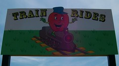 Train Rides (Will S.) Tags: ontario canada roadsideattraction roadsideattractions bigapple mypics canadiana quinte anotherroadsideattraction thebigapple colborne bigobjects bigobject quinteregion largeroadsideattraction largeroadsideattractions bigroadsideattraction bigroadsideattractions giantroadsideattraction giantroadsideattractions colborneontario quintearea largeroundandred