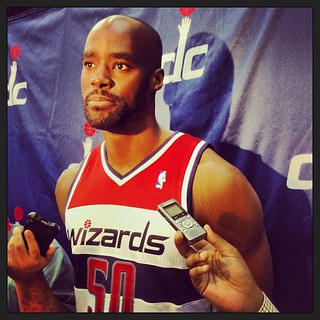 "Emeka Okafor was unsure what nickname he would put on the back of his jersey but John Wall, at one point, called him ""the Anchor."" #Wizards"