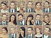 Here's the story of a Lovely Wedding . . . (Blindside_half) Tags: wedding portrait face collage fun groom bride bridesmaids goofballs weddingparty groomsmen ringlight