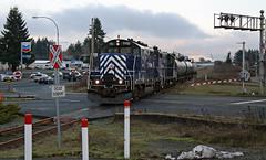 SRY 110 ~ Wellington (Chris City) Tags: railroad en train railway nanaimo vancouverisland wellington sry svi icf gp9 shortline superiorpropane esquimaltnanaimorailway