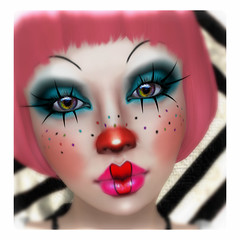 Snapshot_507 (MiaSnow) Tags: cute girl clown avatar makeup sl secondlife clowngirl clownmakeup miasnow miasnowmyriam