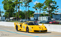 Ferrari FXX (Jason Sha'ul) Tags: motion car yellow racetrack racecar moving movement italian nikon automobile florida automotive ferrari telephoto jupiter dslr supercar carshow sportscar southflorida v12 ca