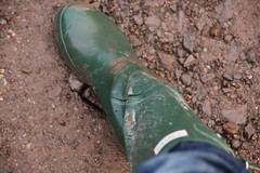 Dirty Wellie (Hunter Wellies!!) Tags: