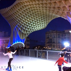 XtraicXtraice rink in Punta del Estee ice rink in Seville, Spain (XTRAICE) Tags: christmas las ice de sevilla spain skating fake artificial surface seville skaters sheets plastic parasol skate rink panels pista hielo synthetic ecological setas metrosol