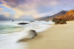 Garrapata Surf #1 - Garrapata State Park, Big Sur, California (Diego Albertt) Tags: ocean california travel light vacation usa seascape rock fog clouds landscape monterey sand surf pacific bigsur carmel garrapata landscapephotography