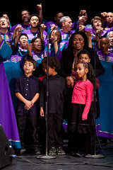 Oakland Interfaith Gospel Choir and kids