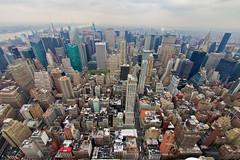 (elzauer) Tags: city nyc newyorkcity sunset sea usa newyork horizontal architecture modern skyscraper outdoors photography cityscape dusk overcast nopeople hudsonriver empirestatebuilding newyorkstate development crowded urbanskyline traveldestinations colorimage buildingexterior midatlanticusa