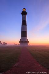 Beacon in the Fog (Carol VanDyke) Tags: fog sunrise northcarolina outerbanks beacon bodieislandlighthouse capehatterasnationalseashore