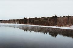 Oulujoki II (Polly Bird Balitro) Tags: winter snow film 35mm suomi finland landscape photography blog diary 28mm analogue oulu 800iso nikonfm oulujoki fujisuperiaxtra800 pollybalitro pollybird december2013
