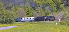 Zvltn vlak s lokomotivou 534 0432 z Olomouce do Jesenku (saasrigais) Tags: train zug nostalgia oldtimer nostalgie dampflokomotive steamlocomotive pra jesenky parnlokomotiva krmk