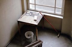 Table (eyesfutur) Tags: berlin film analog table fire bucket staircase 135 tisch brand scrub neuklln treppenhaus agfavista eimer canonf1 brandspuren schrubber lensblr photographersontumblr burntspot