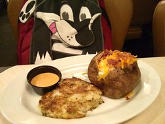 Crab Cake Dinner with loaded baked potato (Morton Fox) Tags: 15fav food de wilmington rubytuesday concordmall
