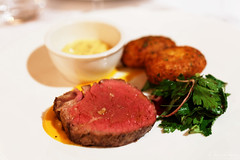 20140209-54-Eye fillet with chat potatoes in Swansea.jpg (Roger T Wong) Tags: food swansea dinner restaurant beef australia tasmania piermont degustation sigma50mmf28exdgmacro sigma50macro hollandaisesauce eyefillet canoneos6d chatpotatoes
