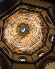 Florence Cathedral Ceiling (DavezPicts) Tags: trip vacation italy ski art religious florence europe cathedral dome fresco