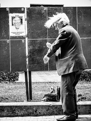 ART OF POLITC (Galantucci Alessandro) Tags: street city trip portrait people urban blackandwhite bw italy woman man art film monochrome photography italian europe candid documentary east romania gypsy decisivemoment alessandrogalantucci galantucci