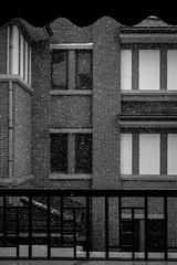 Snow (Katie Li ) Tags: china winter bw white snow black window nature canon buildings nikon shanghai balcony first strong
