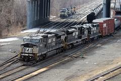 NS 8422 Ex- CR 6235 (Conrail1978) Tags: railroad train ns norfolk southern pa ge sou cr unit enola conrail emd gp382 6235 2833 2669 c408w 5603 8422 sd70m2