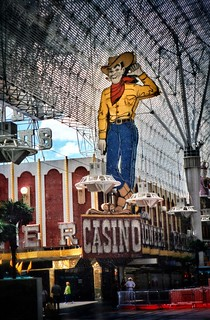 Las Vegas Nevada ~ Pioneer Casino ~ Cowboy Vegas Vic and his friendly