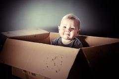 Ramses in cardboard box (Vicberger) Tags: portrait kid child box cardboard portret ramses karton doos