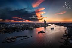 Rama 9 Bridge (Duke.of.arcH) Tags: bridge sky river thailand boat asia cityscape bangkok 9 chao rama phraya
