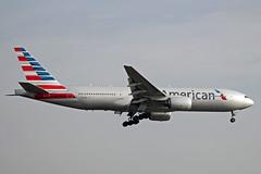 American Airlines | Boeing 777-223ER | N774AN (Ryan Douglas.) Tags: london march airport ryan heathrow american 09 boeing douglas airlines 777 runway spotting lhr 2014 egll 777223er 09l n774an ryansairlinepictures lhr0314