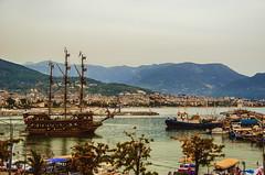 Coming in (Melissa Maples) Tags: sea mountains water sailboat marina turkey boat nikon asia mediterranean ship harbour trkiye nikkor alanya vr afs  18200mm  f3556g  18200mmf3556g d5100
